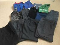 Boys' clothes bundle (4-5yrs) incl school trousers