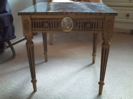 Genuine Antique occasional table - marble
