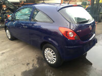 BREAKING - VAUXHALL CORSA D -3 DOOR - BLUE - ALL PARTS AVAILABLE