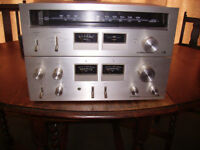 PIONEER SA-606 amplifier and TX-606 tuner ( matched pair )