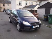 Ford focus c max 1.8 lx LOW MILEAGE 5dr blue drives well recent service an new brakes