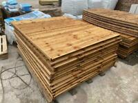 •New• Pressure Treated Vertical Board Wooden Garden Fence Panels - Brown