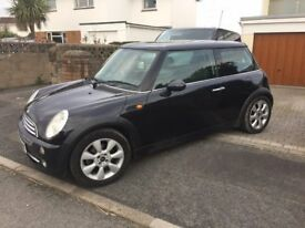 Mini Cooper 1.6 Black 2005, FSH, 12mths MOT, Sunroof