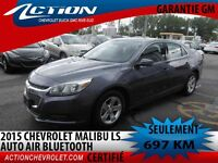 2015 CHEVROLET MALIBU LS AUTO AIR 4 CYL 2.5L BLUETOOTH
