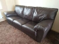 7ft Leather Sofa