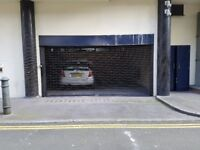 Square Mile Parking - gated, covered, secure parking space for rent. Opposite the Barbican centre.