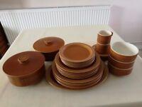 Hornsea Pottery Saffron Part dinner service