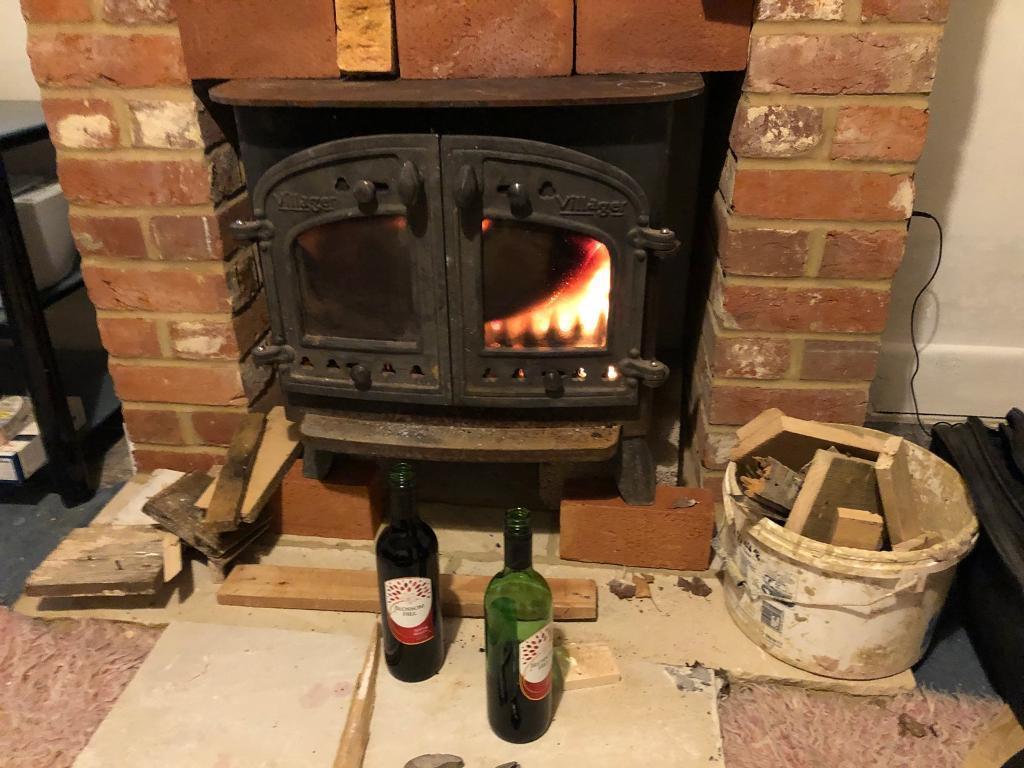 Villager Wood Burner Stove Double Sided Burning