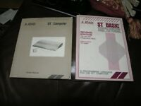 Two Atari St Vintage Books Owners Manual and St Basic
