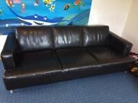 Leather, settee, leather settee, sofa