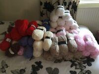 63 100grm balls ok chunky wool for sale £40