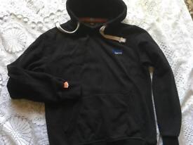 Superdry men's hoodies fleece black Size L Used in good condition £10