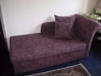 chaise longue double bed sofa
