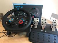 Logitech G29 steering wheel (PS4)