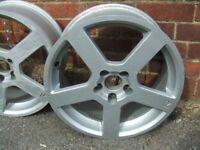 4 x Replica Pegasus alloy wheels 17x7.5J for Volvo, some Fords or Jaguar