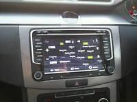 Volkswagen SAT NAV SD USB AUX RADIO bluetooth satnav fits vw skoda seat navigation rns510 style