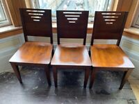 6 x John Lewis Solid wooden chairs