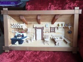 FOR SALE - 3D WOODEN CRAFT FRAME - SWISS CHALET - HOME SWEET HOME - £20