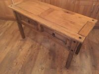 Corona solid pine wood desk, 2 drawers, perfect for shabby chic restoration project