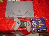 PLAYSTATION 1 WITH GAME