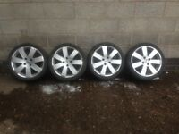 Focus alloys 17 inch legal tyres