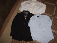 Thomas Nash jacket and blue shirt 5-6 years ( + white shirt)