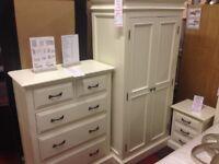 New Hambleton Cream bedroom clearance Wardrobe Clearance SALE £279 Last One