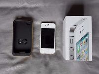 iPhone 4S, white, 16GB, Unlocked, in good condition
