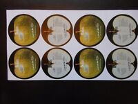 Beatles Rare Uncut Record Label Sheets.Sgt Peppers & Live At The BBC