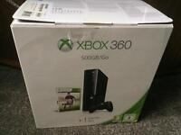 Xbox 360 500gb with games, headset and controllers