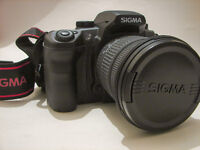 DSLR SIGMA SD14 with Sigma DC 17-70mm 2.8-4.5, 2 batteries, M42 adapter, easy infrared mod