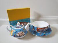 Cat tea set for one