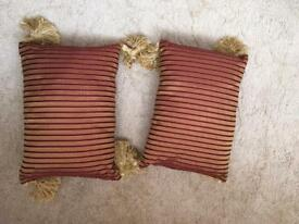 Pair of stripped Cushions