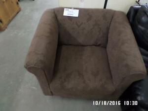Brown Fabric Arm Chair