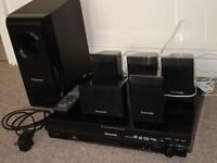 Panasonic 5.1 Surround sound package with sub woofer and DVD player