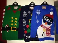 Children's Christmas jumpers size 8-9years