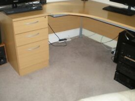 CORNER OFFICE DESK WITH 3 DRAWERS