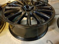 Vw r32 alloy wheels genuine set of 5 powder coated 5x100 audi skoda seat