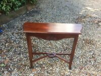 Dark wood elegant Console Table - ideal for chalk painting
