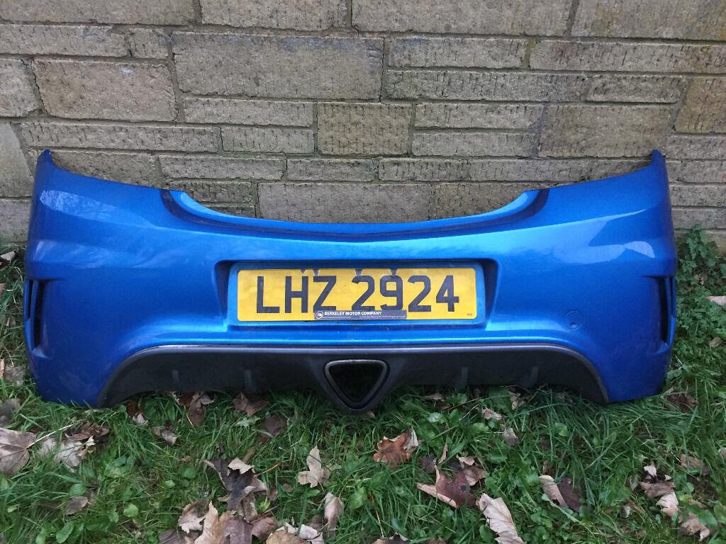 Vauxhall Corsa D VXR Blue Complete Rear Bumper