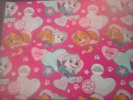 PAW PATROL KIDS SINGLE BED COVER/DUVET & PILLOW CASE GIRLS