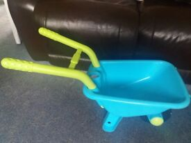 Sturdy plastic ELC childs wheelbarrow
