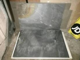 Extra large slate hearth slabs for fireplace and stove. 600x300