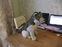 Cuddly Sitting Wolf Toy