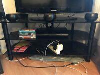 Black 3 tierTV stand