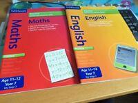 YEAR 7 ENGLISH AND MATHS BOOKS