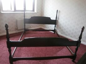 Stag Minstral Kingsize Bedframe - FREE TO GOOD HOME