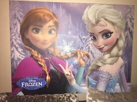 Anna and Elsa Frozen canvas