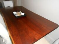 Jarrah Living edge dining table and chairs