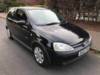 Vauxhall Corsa SXI 16V 1199cc Petrol 5 speed manual 3 door hatchback 02 Plate 07/03/2002 Black